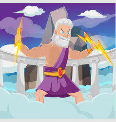 greek god thunder high heaven vector image