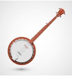 Isolated banjo vector image