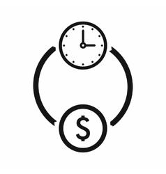 Money and time icon simple style vector image
