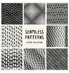 Set Geometric Seamless Pattern vector image vector image