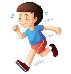 A kid running vector image vector image