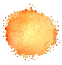 Abstract watercolor painted blot vector image