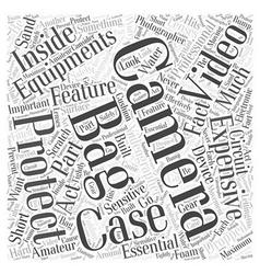 camera bag video Word Cloud Concept vector image vector image