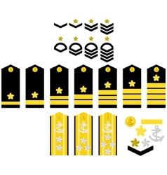 Japan Navy insignia vector image vector image
