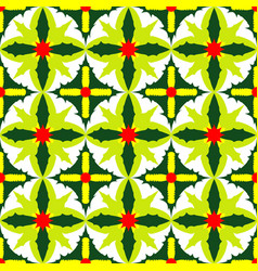 seamless pattern of exotic green leaves vector image
