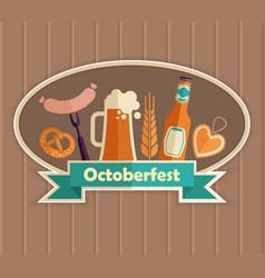 the emblem of the oktoberfest beer festival vector image vector image