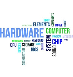 word cloud hardware vector image