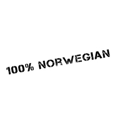 100 percent norwegian rubber stamp vector
