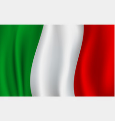 3d flag of italy italian national symbol vector