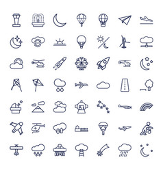 49 sky icons vector