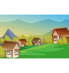 a colony of houses vector image