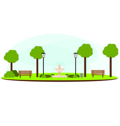 abstract landscape park vector image