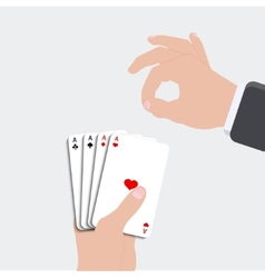 Ace playing card set vector