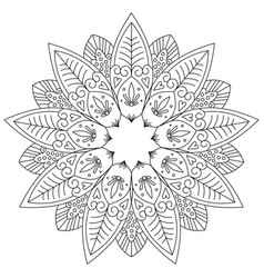 adult coloring page vector image