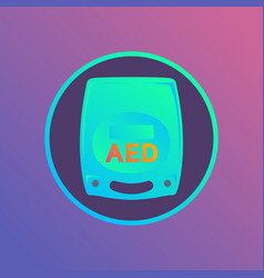 Aed logo icon vector