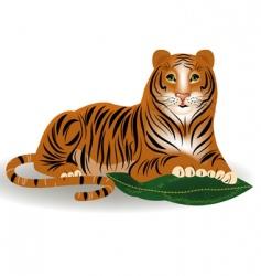 Amur tiger vector