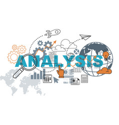 analysis website banner concept vector image