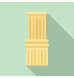 ancient column icon flat style vector image