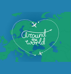 Around world concept top view vector