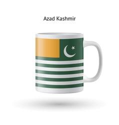Azad Kashmir flag souvenir mug on white background vector image