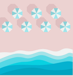 Azure sandy beach piece sea or ocean and beach vector
