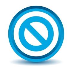 Blue ban icon vector