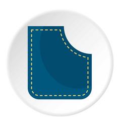 Blue pocket icon circle vector