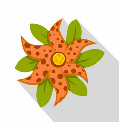 Brindle flower icon flat style vector