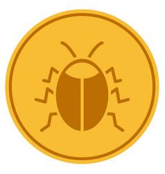 Bug gold coin vector