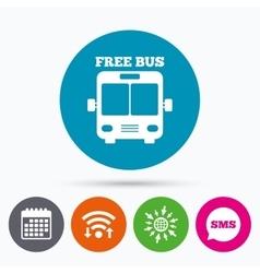 Bus free sign icon Public transport symbol vector