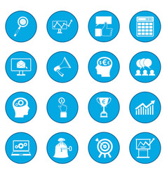 Business banking and office icon blue vector