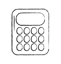 calculator with blank keys icon image vector image