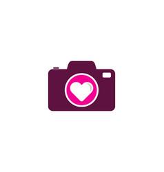 Camera love logo icon design vector