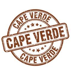 Cape verde brown grunge round vintage rubber stamp vector
