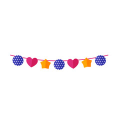 Carnival bunting flags garland banner isolated vector