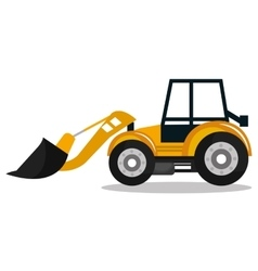 construction machinery design vector image