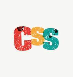 Css concept stamped word art vector