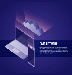 data network related vector image