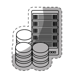 Database optimization server banner icon vector
