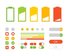 Different interface design Flat design elements vector