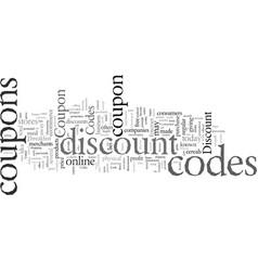 Discount coupon codes vector