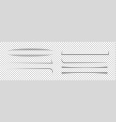 divider shadow lines divider paper with vector image