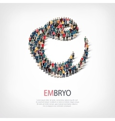 Embryo people sign 3d vector