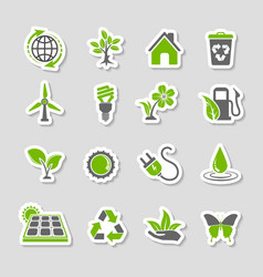 Environment Icons Sticker Set vector image