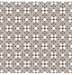 Fair isle style white beige brown seamless pattern vector