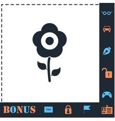 Flower icon flat vector