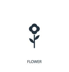 Flower icon simple gardening element symbol vector