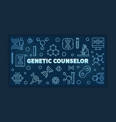 genetic counselor blue linear banner or vector image
