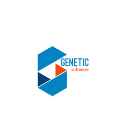 Genetic software identity sign vector