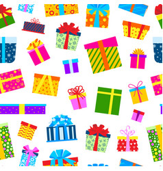 gift boxes for christmas presents with ribbons vector image